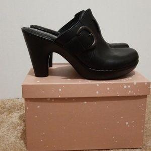 Born Black Leather Mule